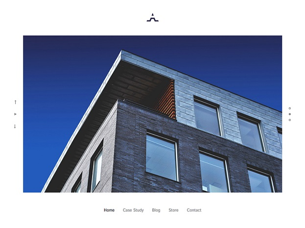 Sitebuilder Architect template voorbeeld