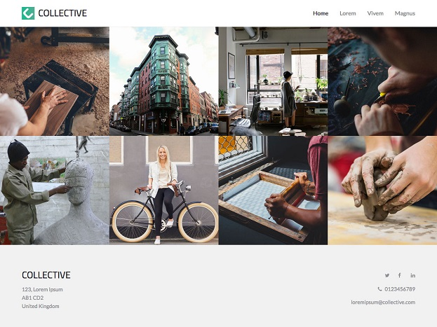 Sitebuilder Collective template voorbeeld